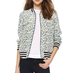 "EQUIPMENT - ""Abbot"" Bomber - Contrast Floral Print"